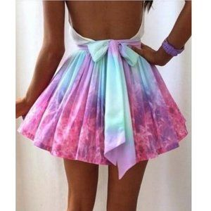 Dresses & Skirts - Ombre Rainbow Galaxy Skirt Blogger Favorite!